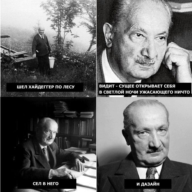 Мем про Хайдеггера